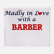 Madly in love with a Barber Throw Blanket