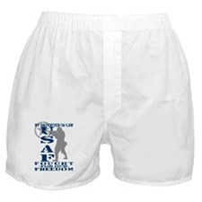 Dghtr-n-Law Fought Freedom - USAF Boxer Shorts