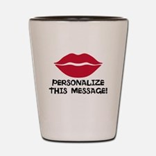 PERSONALIZED Red Lips Shot Glass