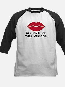 PERSONALIZED Red Lips Baseball Jersey