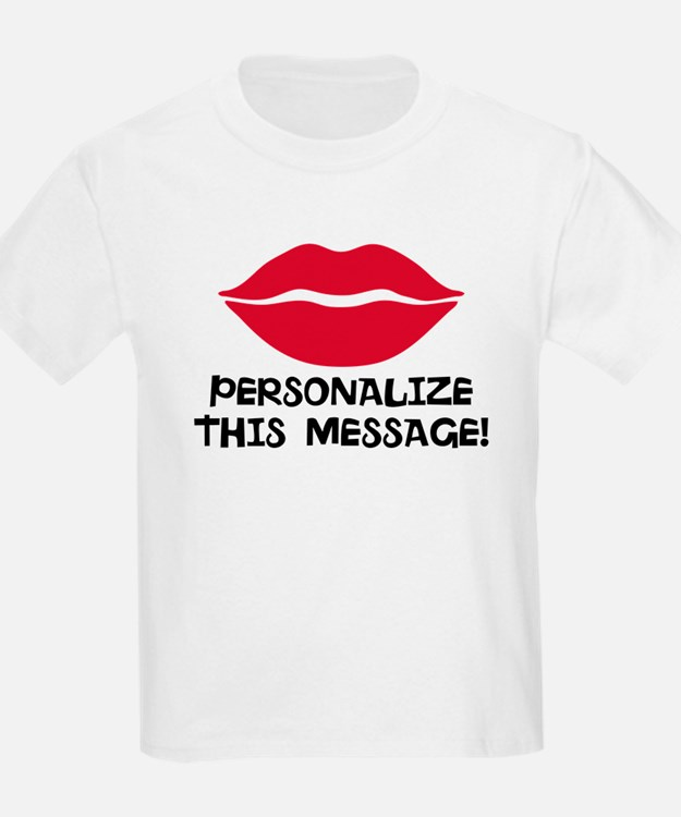 PERSONALIZED Red Lips T-Shirt