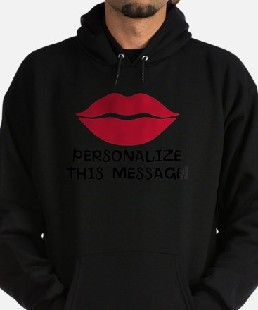 PERSONALIZED Red Lips Hoodie