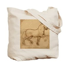 Leonardo Da Vinci Horse Tote Bag