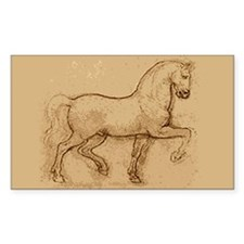 Leonardo Da Vinci Horse Rectangle Decal