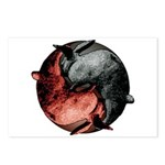 Yin Yang Rabbits Postcards (Package of 8)