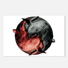 Yin Yang Rabbits Postcards (Package of 8)