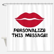 PERSONALIZED Red Lips Shower Curtain