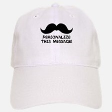 PERSONALIZED Cute Mustache Baseball Baseball Baseball Cap