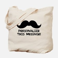 PERSONALIZED Cute Mustache Tote Bag