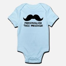 PERSONALIZED Cute Mustache Body Suit