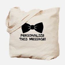 PERSONALIZED Cute Bow Tie Tote Bag