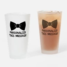 PERSONALIZED Cute Bow Tie Drinking Glass