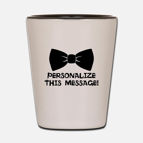 PERSONALIZED Cute Bow Tie Shot Glass