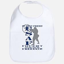 Best Friend Fought Freedom - USAF Bib