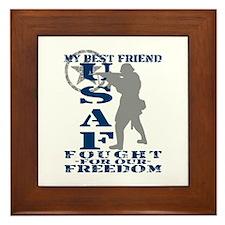 Best Friend Fought Freedom - USAF Framed Tile