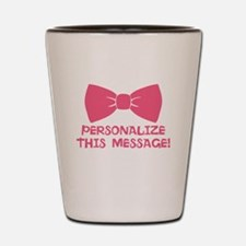 PERSONALIZED Pink Bow Tie Shot Glass