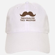 PERSONALIZED Brown Mustache Baseball Cap
