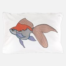 Orahge and White Fantail Goldfish Pillow Case