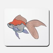 Orahge and White Fantail Goldfish Mousepad
