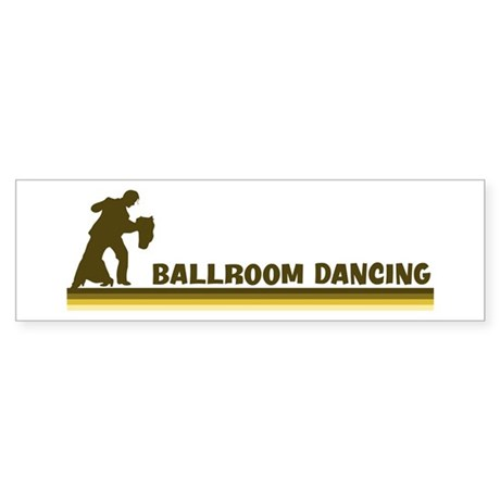 Retro Ballroom Dancing Bumper Sticker