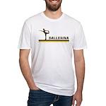 Retro Ballerina Fitted T-Shirt