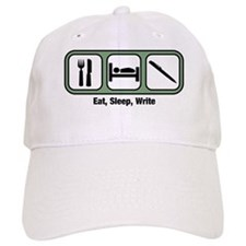 Eat, Sleep, Writing Baseball Cap