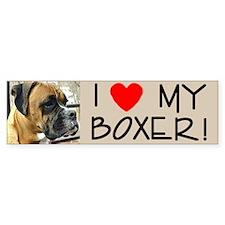 Jackson the Boxer Bumper Sticker R Profile