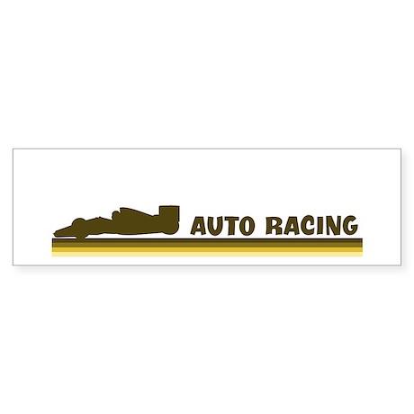 Retro Auto Racing Bumper Sticker
