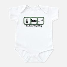 Eat, Sleep, Weightlifting Infant Bodysuit