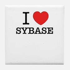 I Love SYBASE Tile Coaster