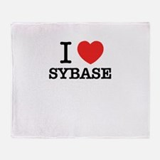 I Love SYBASE Throw Blanket