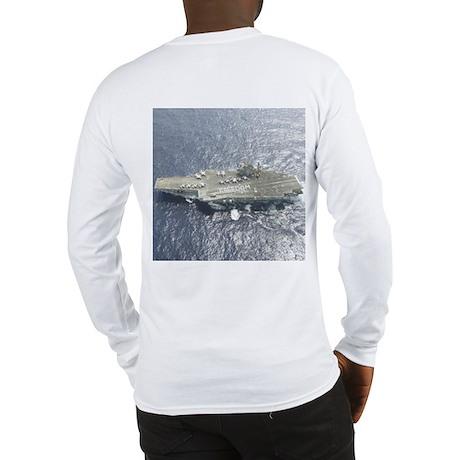 USS Kitty Hawk CV63 Long Sleeve T-Shirt Navy Gift