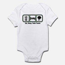 Eat, Sleep, Table Tennis Infant Bodysuit