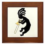 Kokopelli Trombone Framed Tile