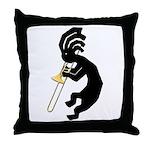 Kokopelli Trombone Throw Pillow