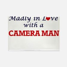 Madly in love with a Camera Man Magnets