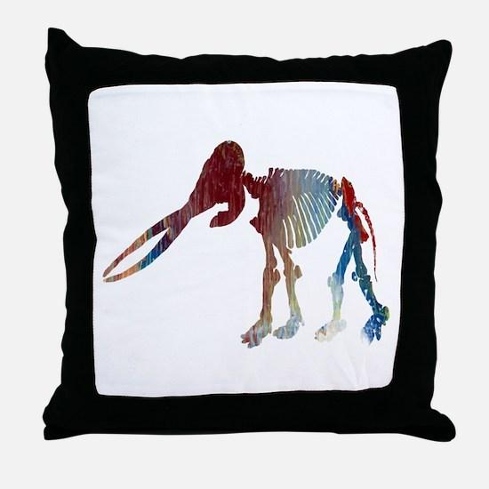 Mastodon Skeleton Throw Pillow
