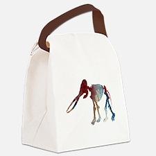 Mastodon Skeleton Canvas Lunch Bag