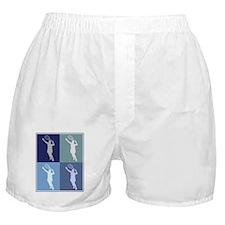 Womens Tennis (blue boxes) Boxer Shorts