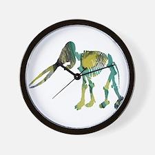 Mastodon Skeleton Wall Clock