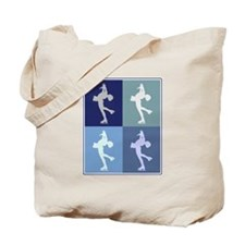 Womens Ice Skating (blue boxe Tote Bag