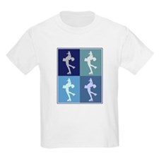 Womens Ice Skating (blue boxe T-Shirt