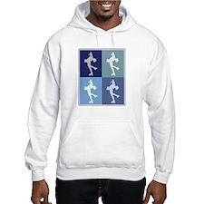 Womens Ice Skating (blue boxe Hoodie Sweatshirt