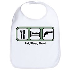 Eat, Sleep, Shoot Guns Bib