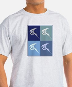 Windsurfing (blue boxes) T-Shirt