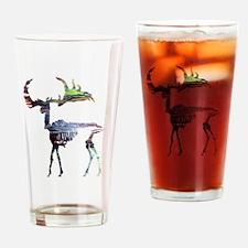 Elk Skeleton Drinking Glass