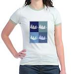 White Water Rafting (blue box Jr. Ringer T-Shirt
