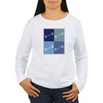 Weightlifting (blue boxes) Women's Long Sleeve T-S