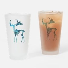 Deer Skeleton Drinking Glass