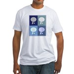 Table Tennis (blue boxes) Fitted T-Shirt